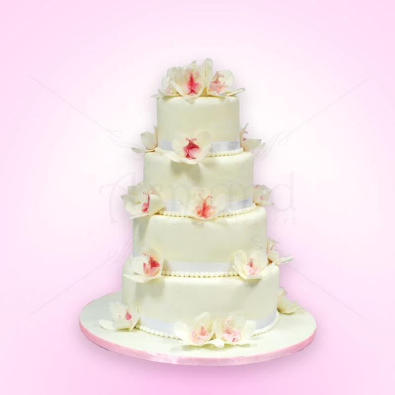 Tort nunta orhidee delicate