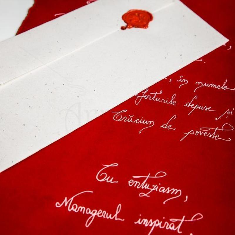 Scrisoare in plic cu sigiliu de ceara