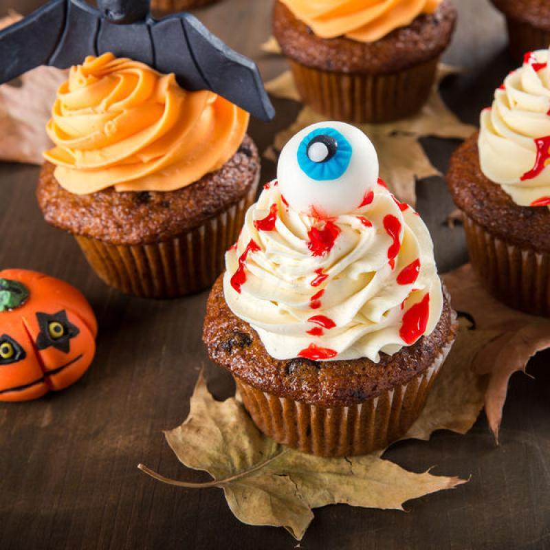 Cupcake ochi Halloween