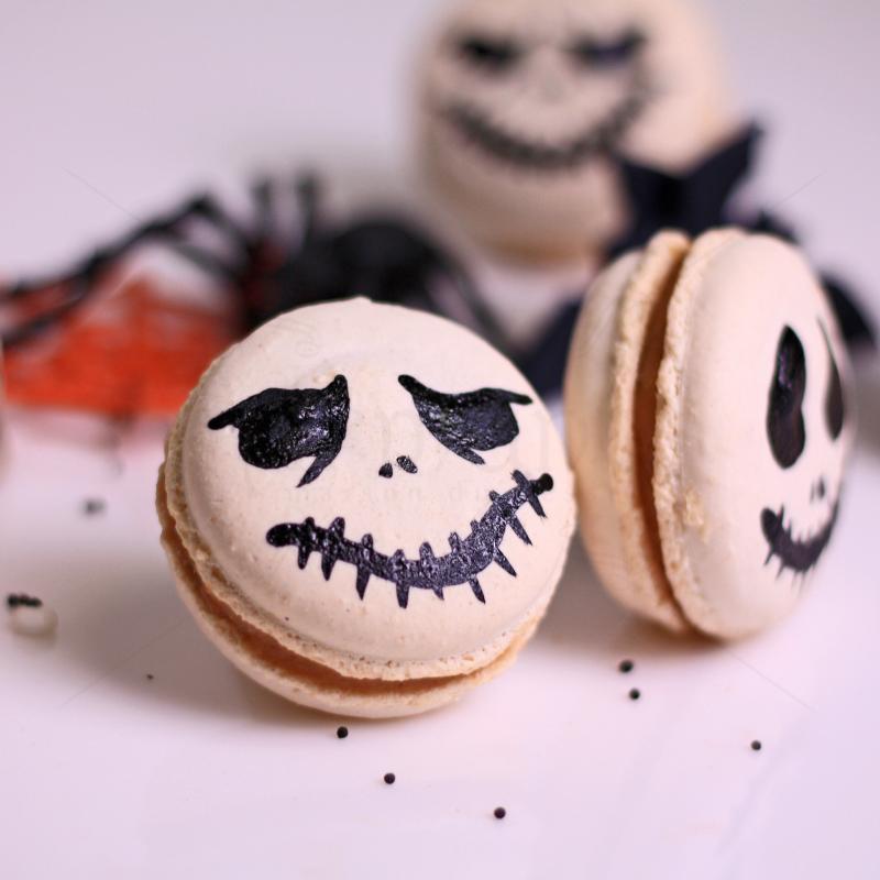 Macarons Jack Halloween