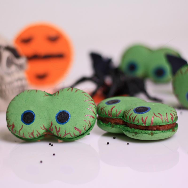 Colectie Macarons ochi mici Halloween