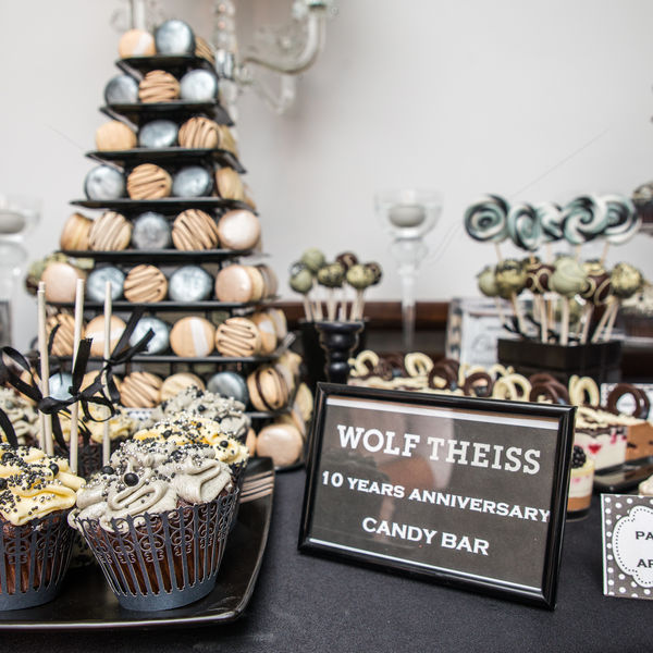 Candy bar corporate black tie