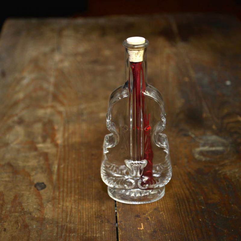 Scrisoare in sticla vintage/violoncel