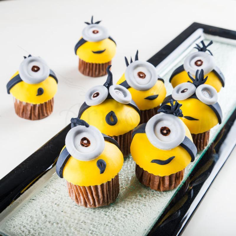 Mini cupcakes Crazy Minions