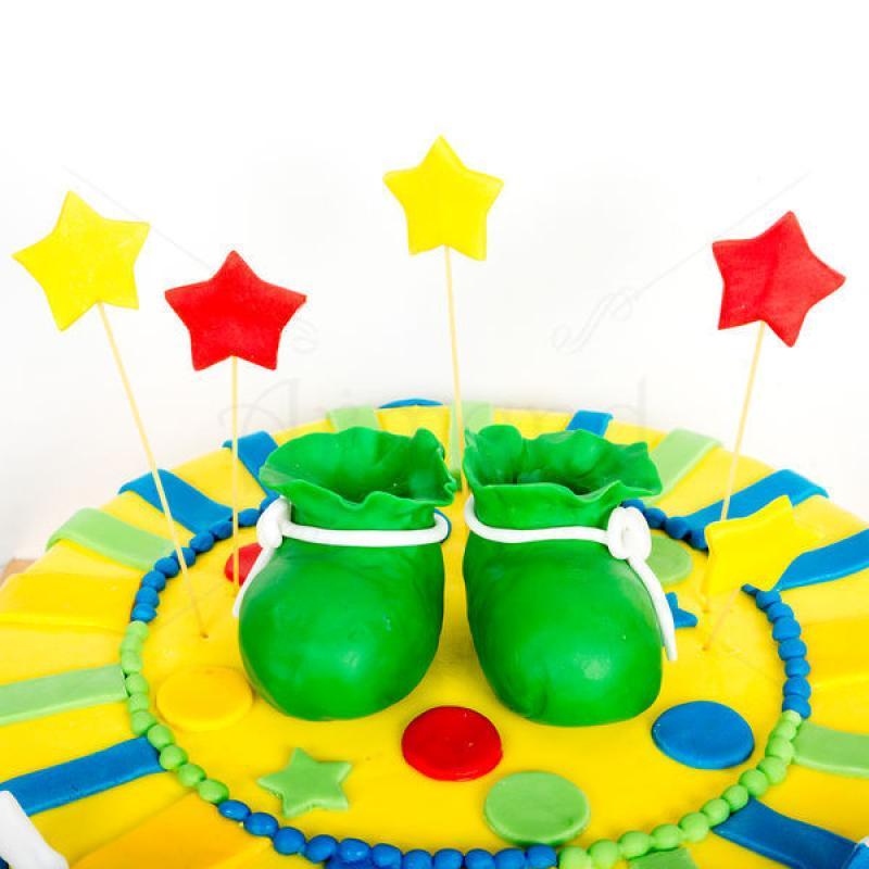 Tort Botosei verzi si stelute