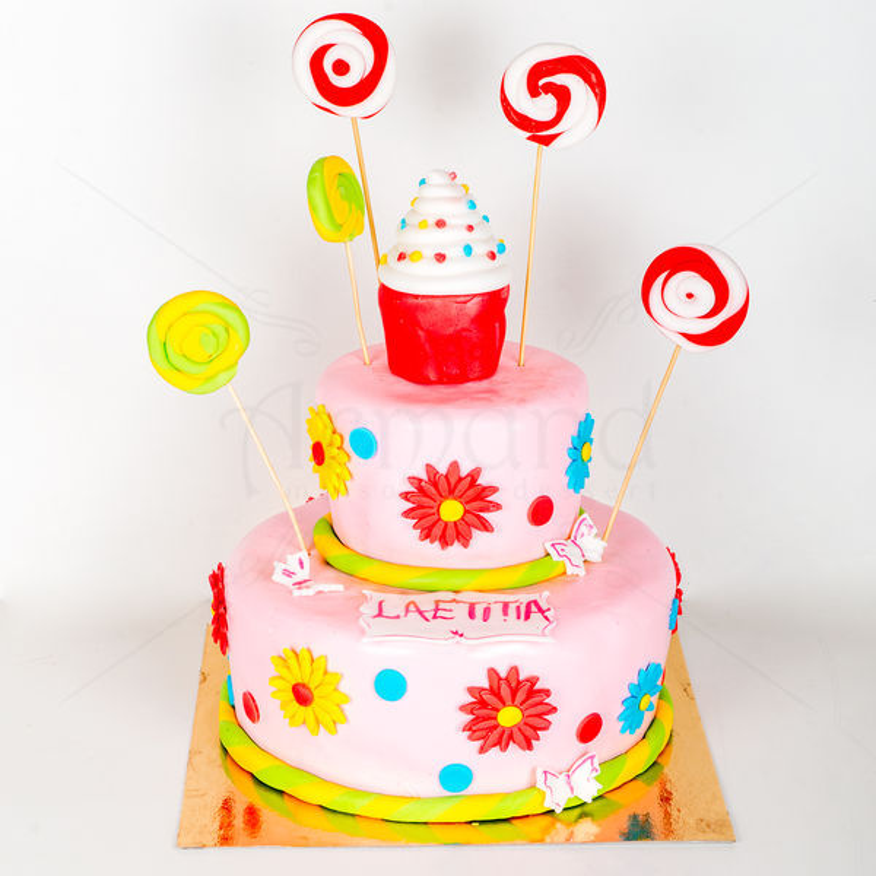 Tort Cupcake si acadele colorate