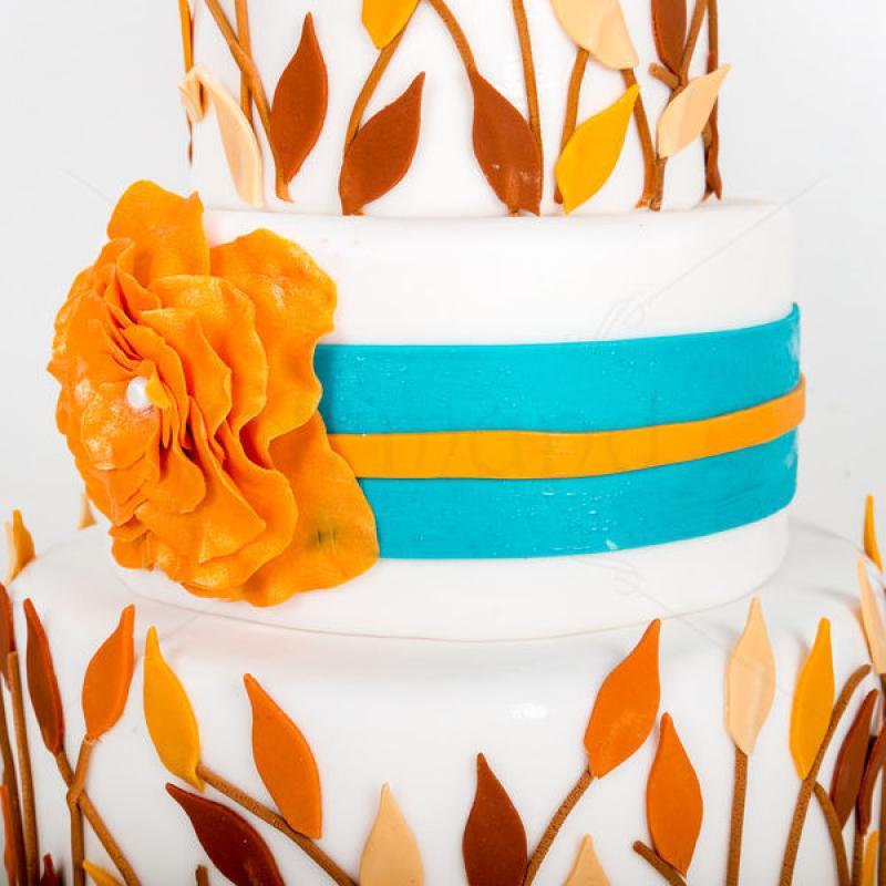 Tort nunta Pasari toamna