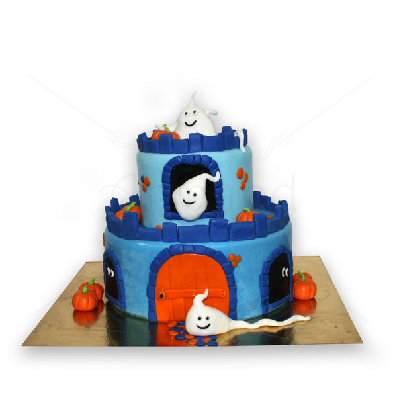 Tort Castel cu fantome Halloween