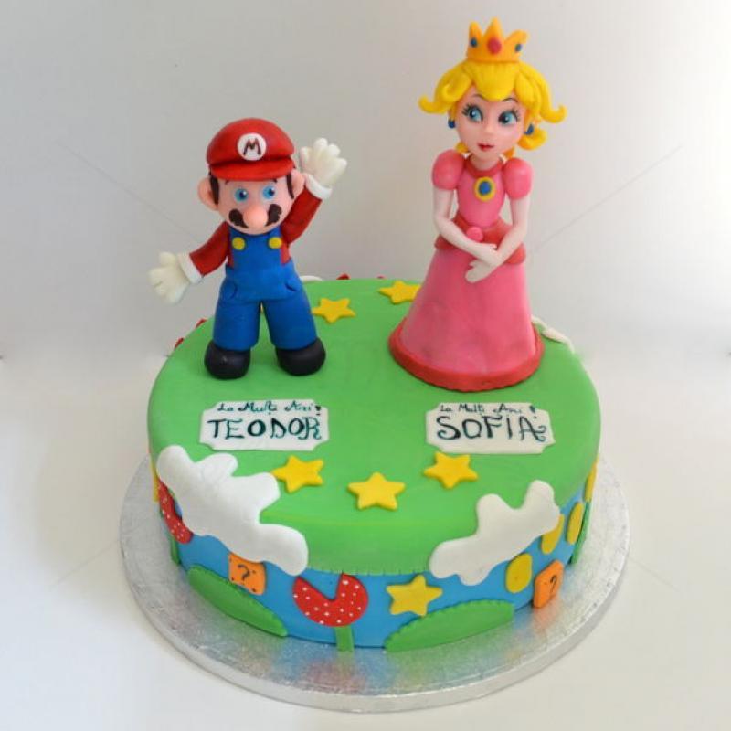 Tort Super Mario si printesa