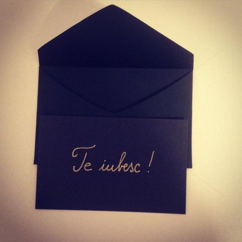 Scrisoare albastra in plic
