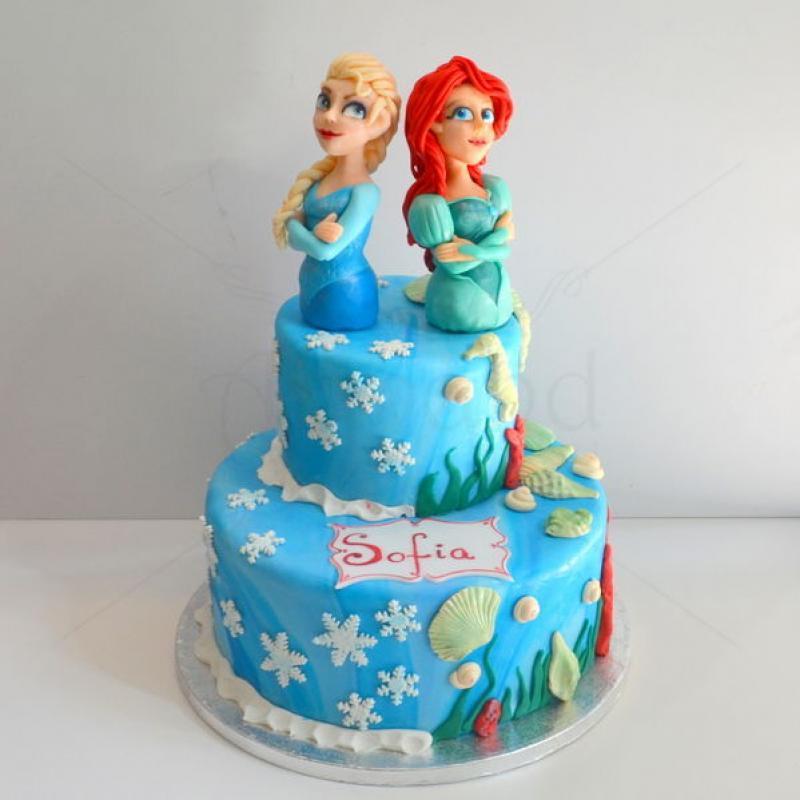 Tort Elsa si Ariel