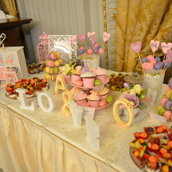 Candy bar nunta Gold and Pink