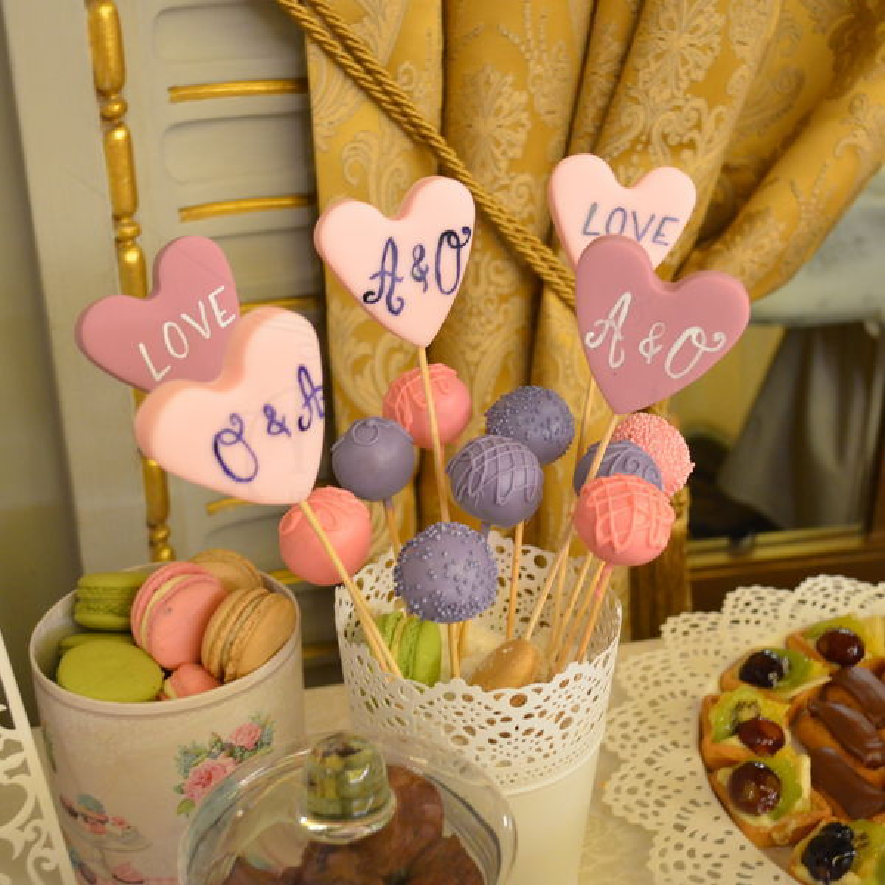 Candy bar nunta Gold and Pink