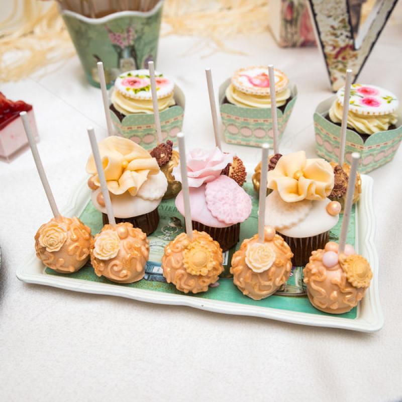 Cake pops Vintage elegante