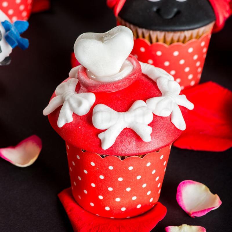 Cupcake Inima alba