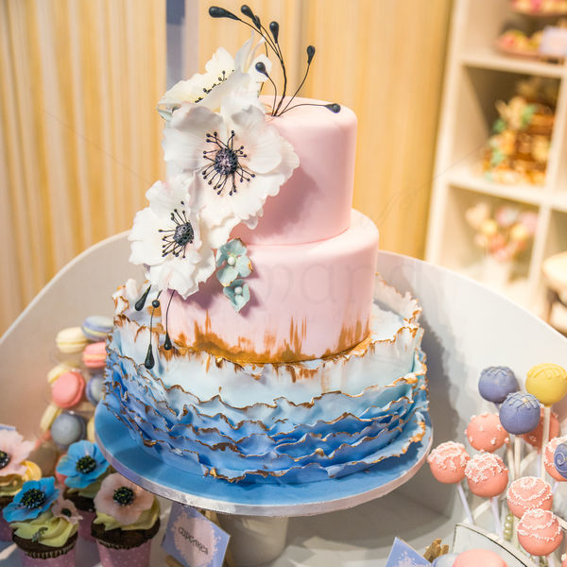 Tort nunta Rose quartz si Serenity