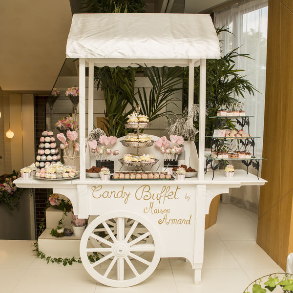 Candy Bar Luxury - Roz, crem, argintiu