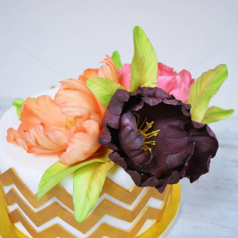 Tort Buchet de flori stilizate
