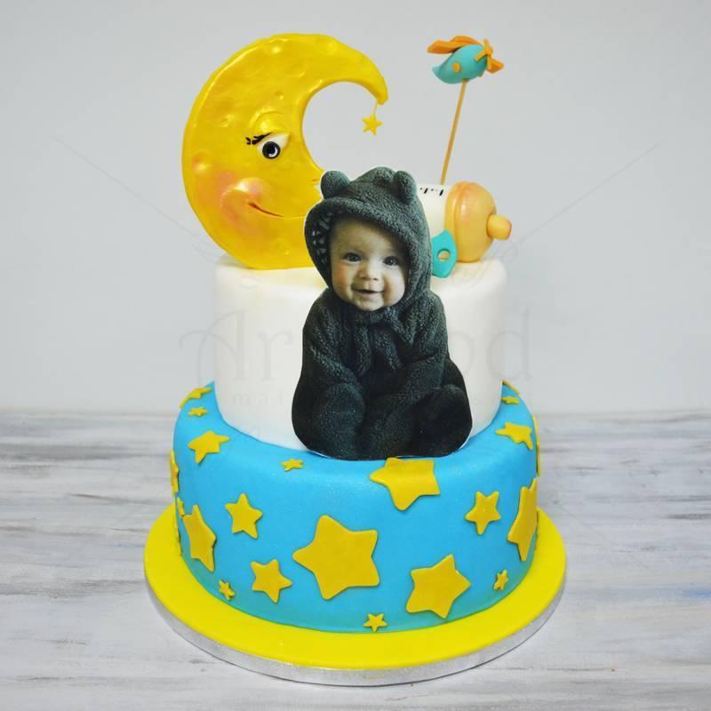 Tort botez Silueta bebelus