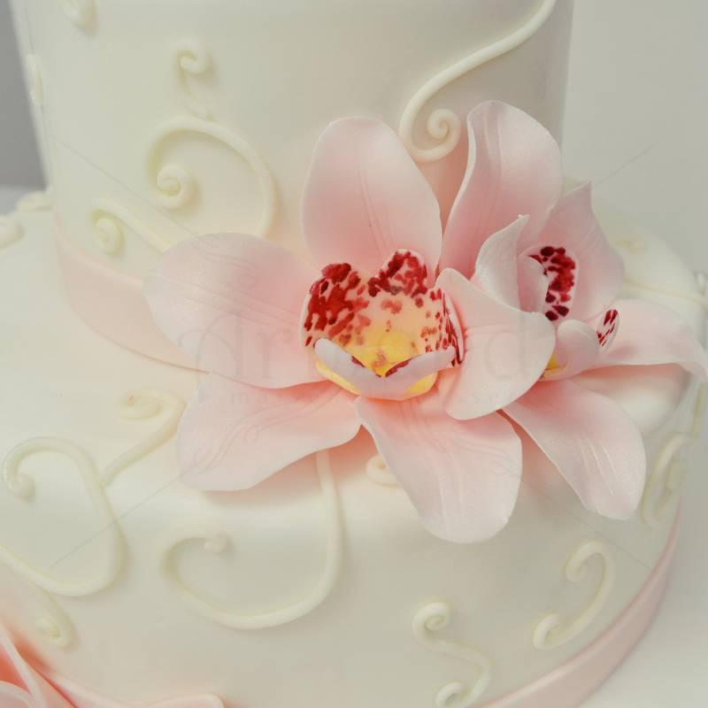 Tort botez Bebe si orhidee