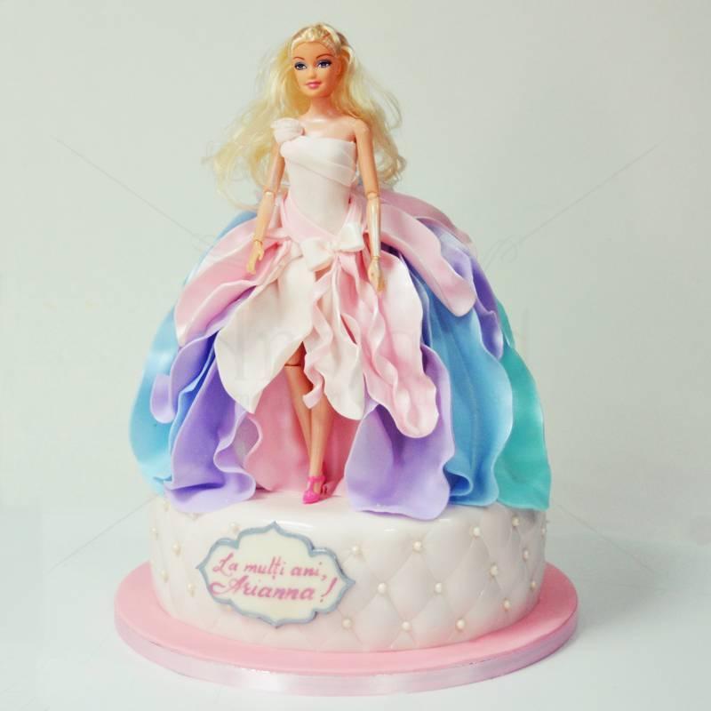 Tort Barbie Curcubeu