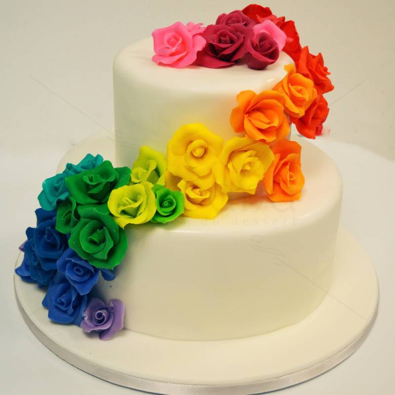 Tort Trandafiri Curcubeu