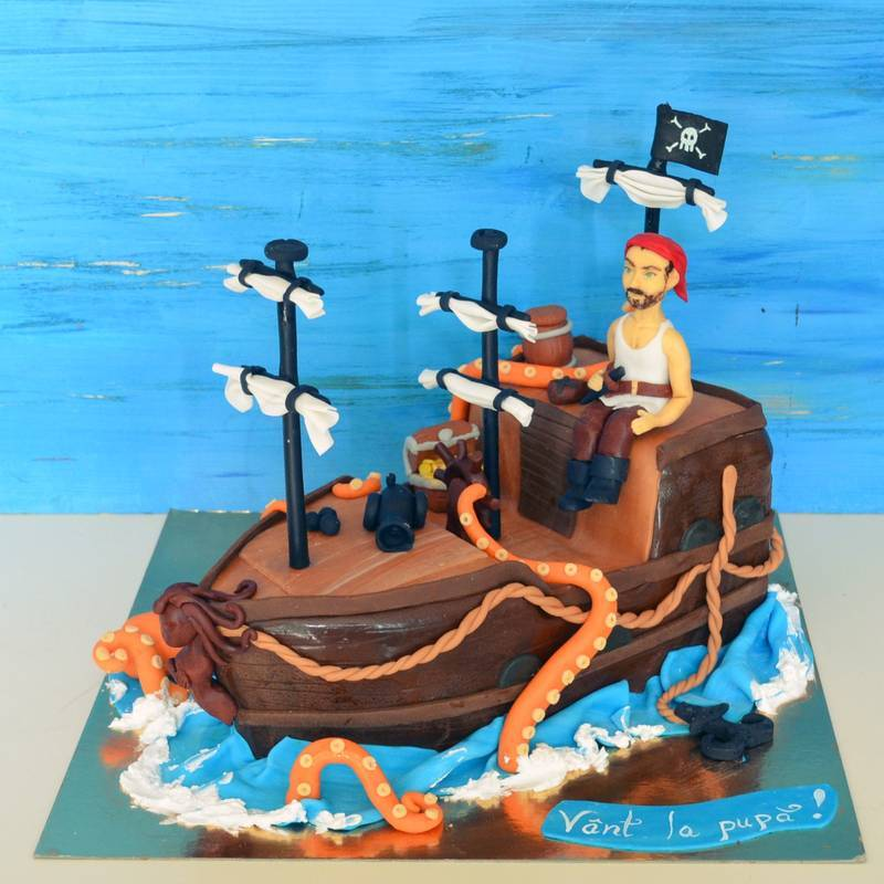 Tort Corabie Pirat si caracatita