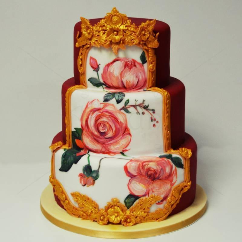Tort Vintage Royal Roses