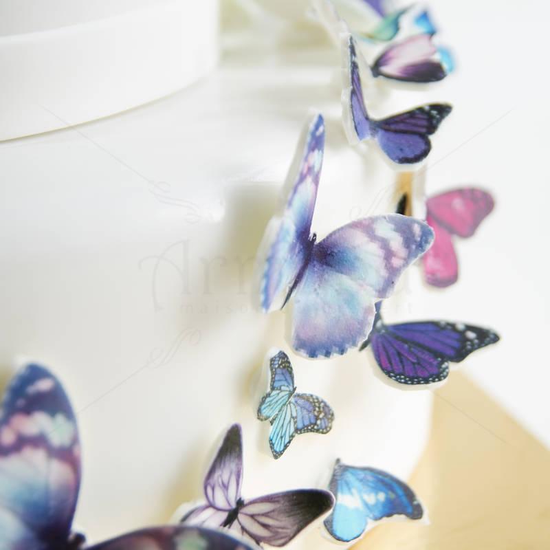 Tort Cununie Fluturi multicolori