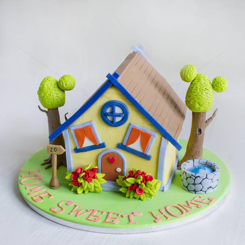Tort Casuta colorata