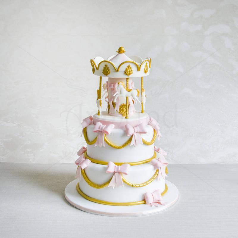 Tort Carusel elegant roz