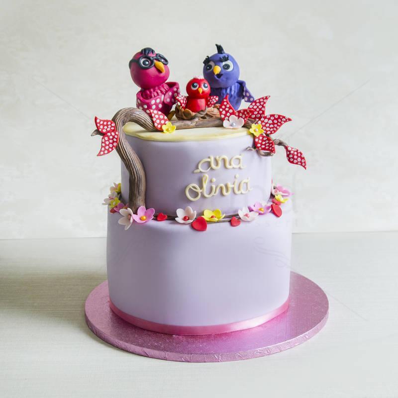 Tort Familia de bufnite colorate