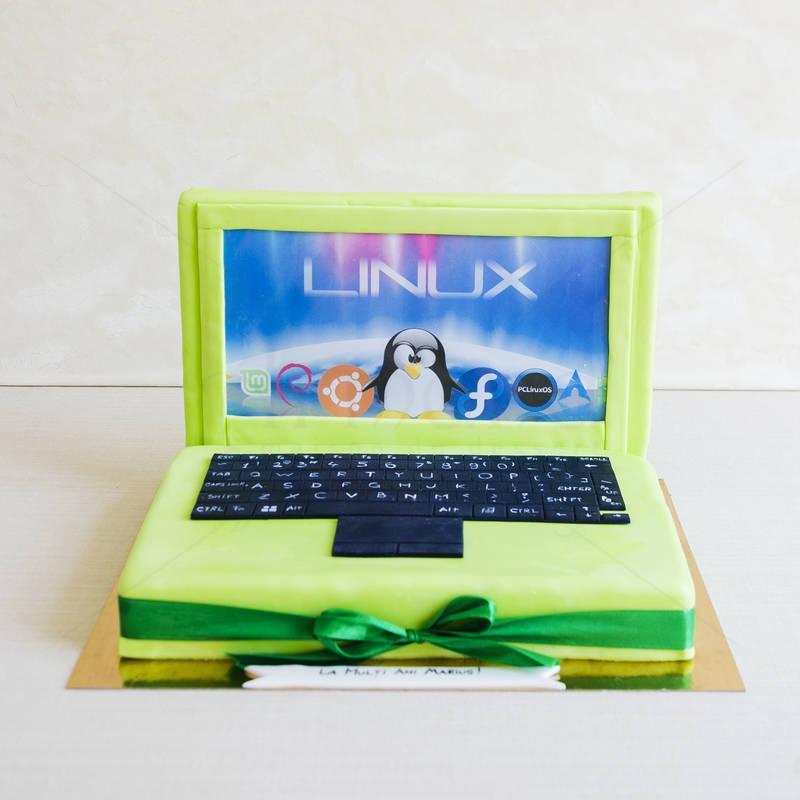 Tort Laptop Verde
