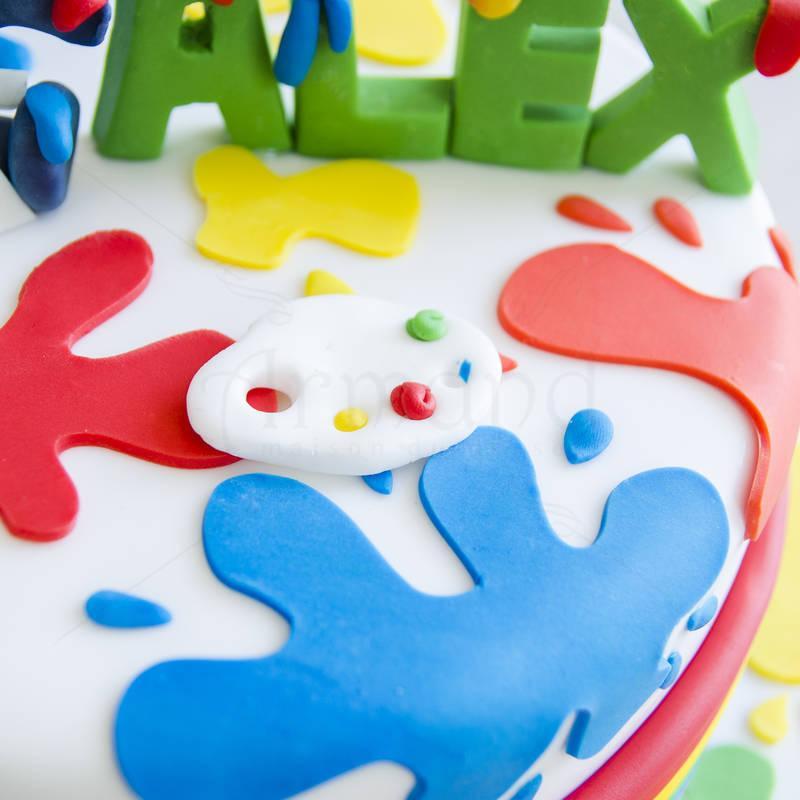 Tort Elefantelul colorat