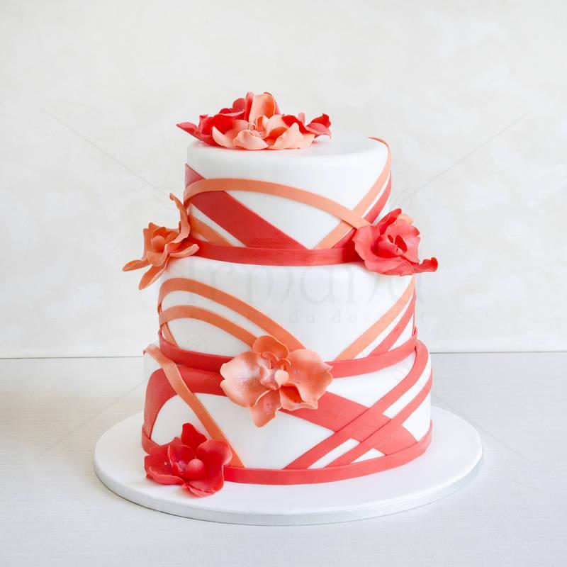 Tort Orhidee corai
