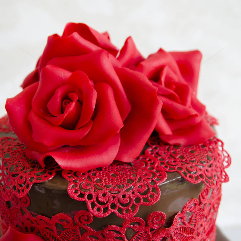Tort Chocolate and roses