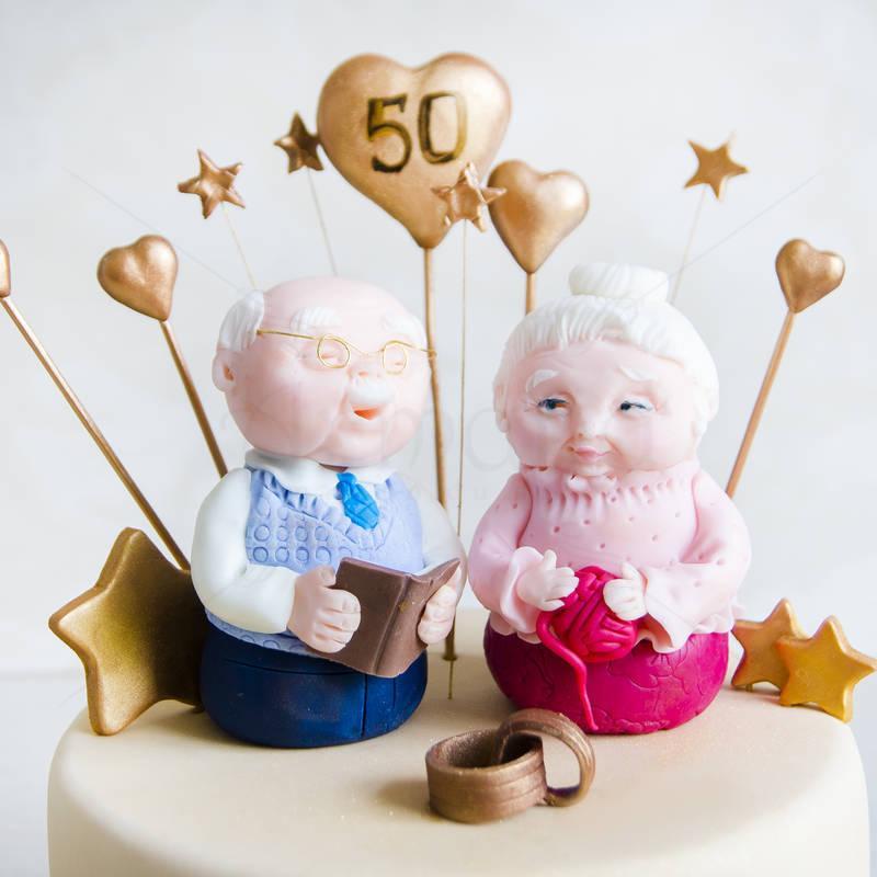 Tort Aniversare Nunta de aur