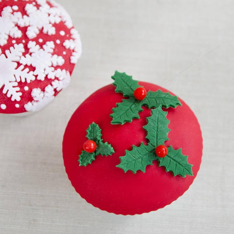 Cupcake Rosu Craciun 1