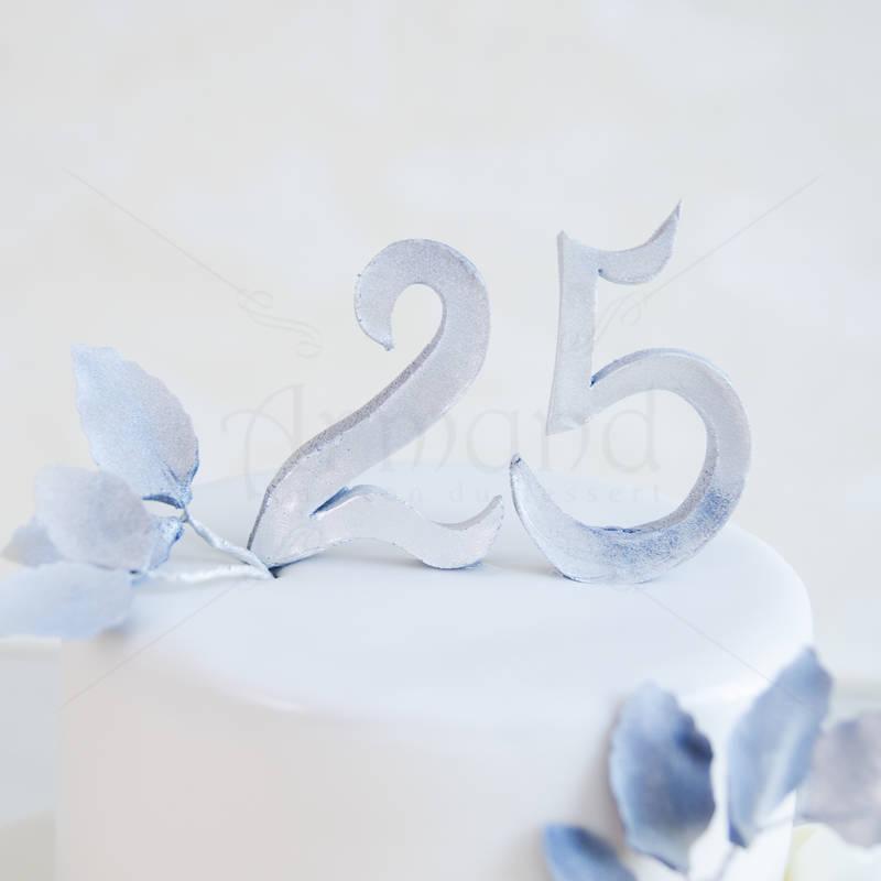 Tort personalizat 25 de ani Bujori