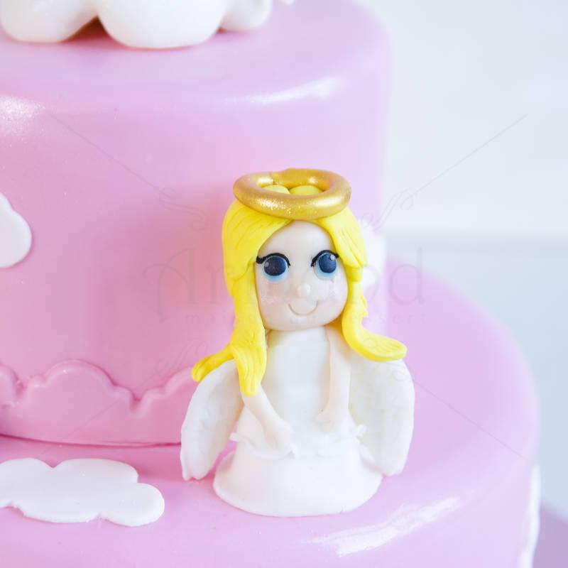 Tort de botez Roz si ingerasi