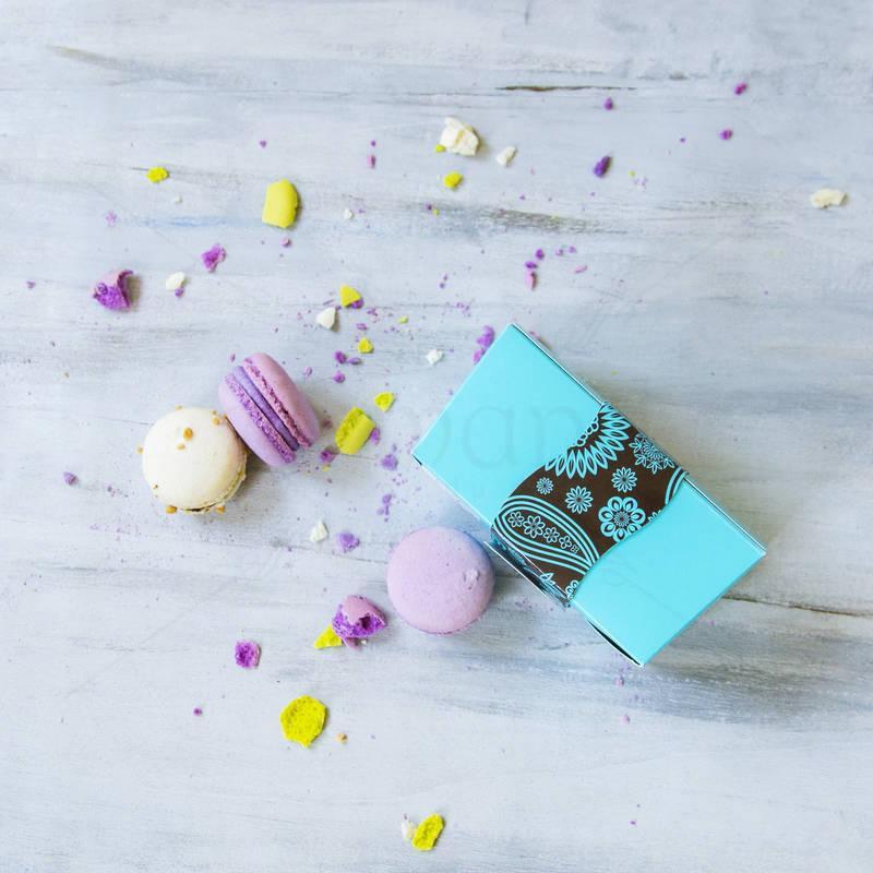 Cutie Turquoise 6 Macarons Martisor
