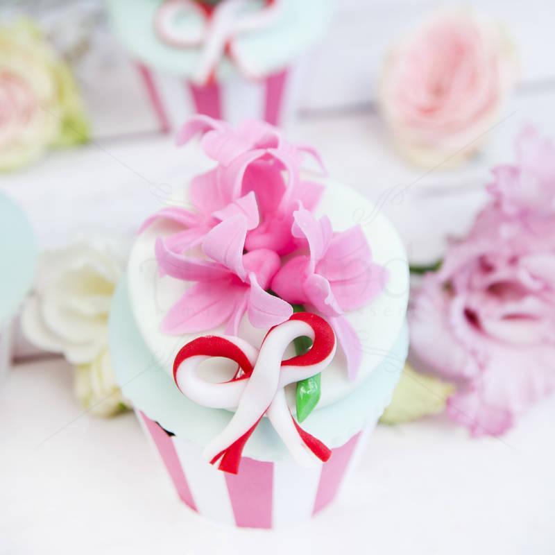 Cupcake Martisor Zambile roz