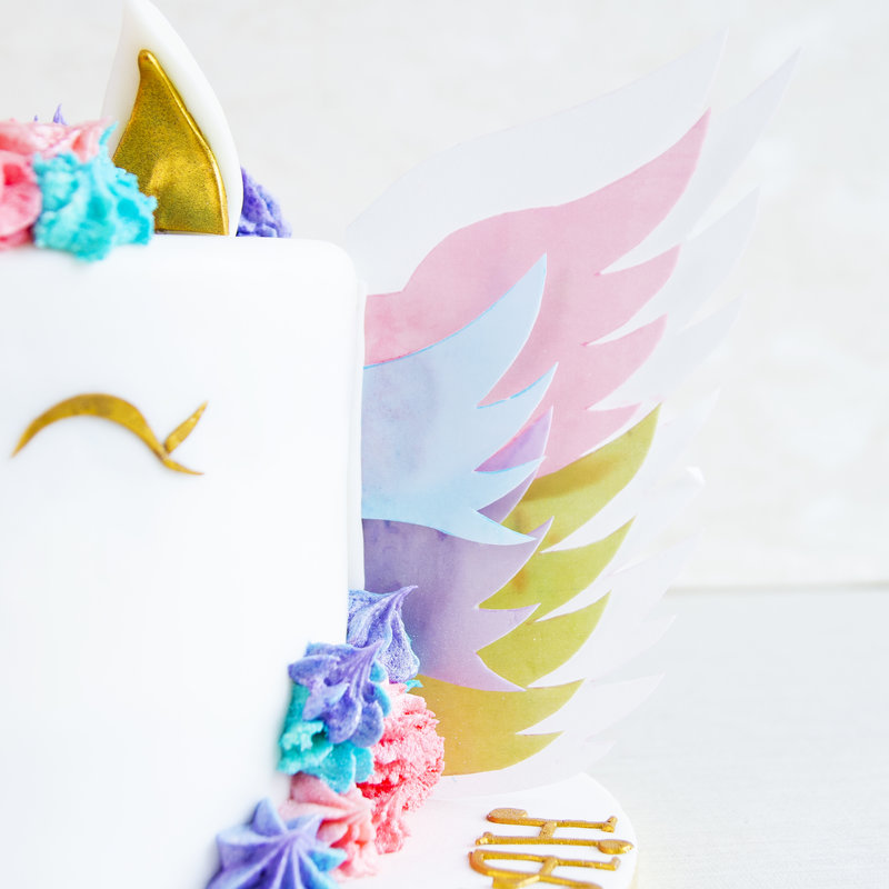 Tort Unicorn cu aripi curcubeu