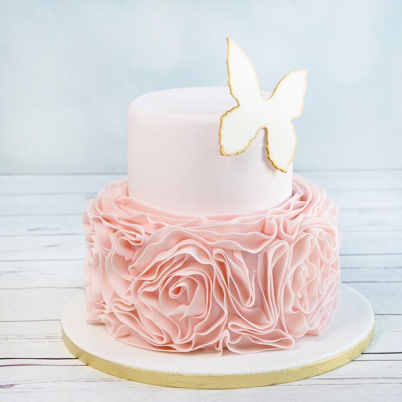 Tort pentru nunta Fluture Chic
