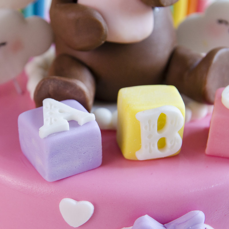 Tort Fetita Figurina Ursulet si Curcubeu