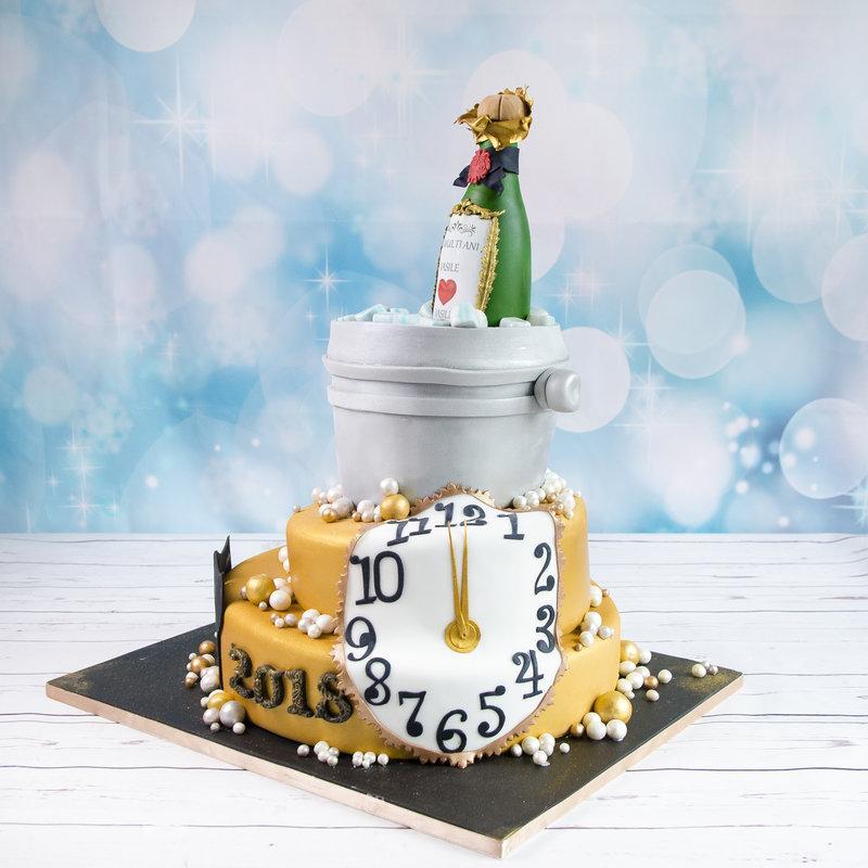 Tort Revelion Sticla Sampanie