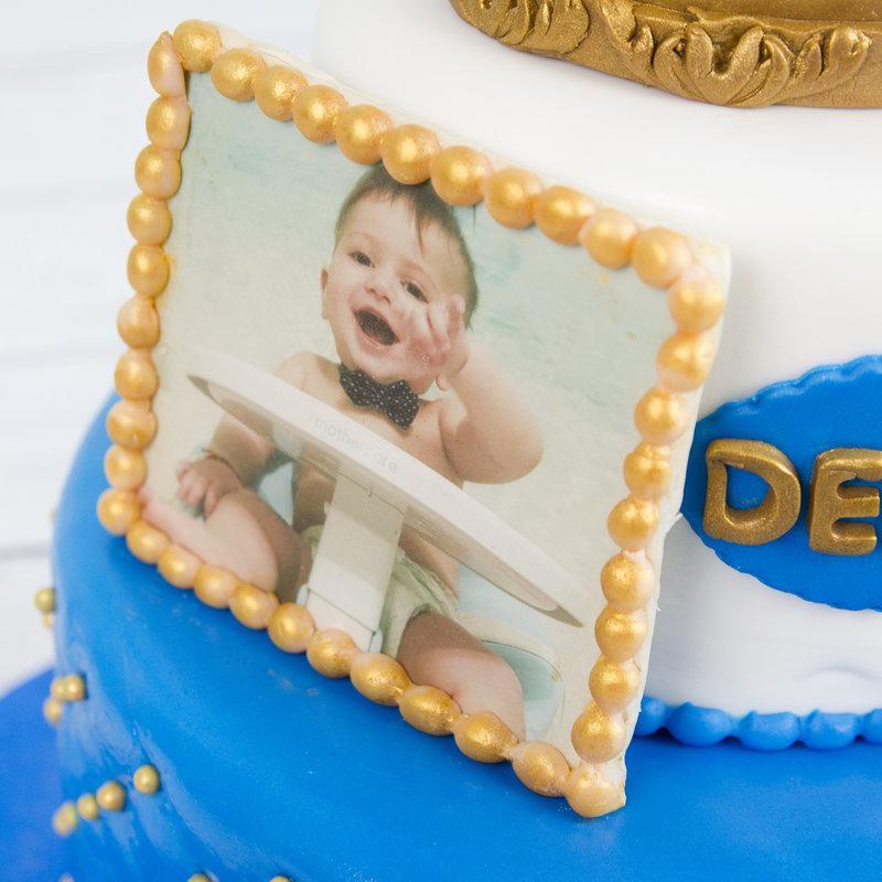 Tort Botez Baietel Coronita Aurie