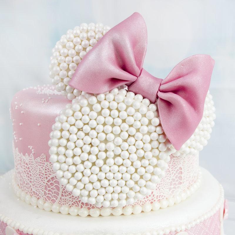 Tort Botez Delicat Minnie Mouse
