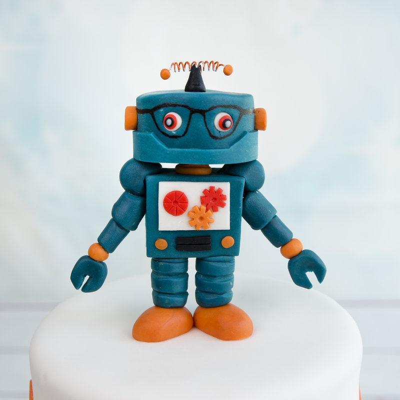 Tort Copii Figurine Roboti Pop Art