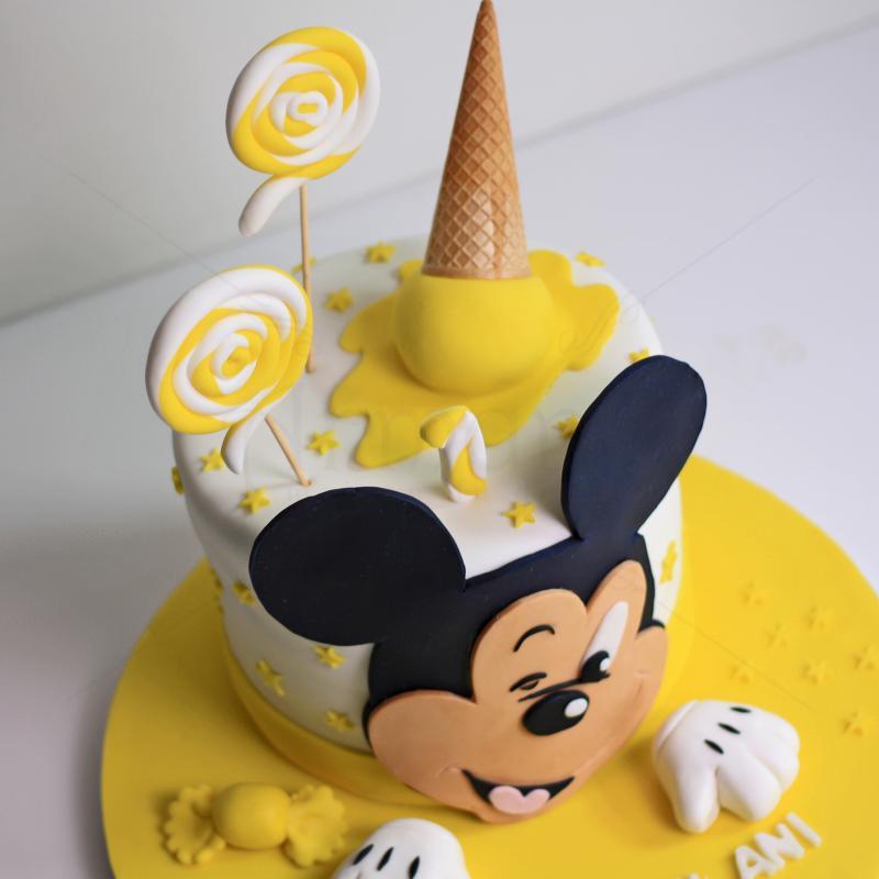 Tort Mickey Mousse galben